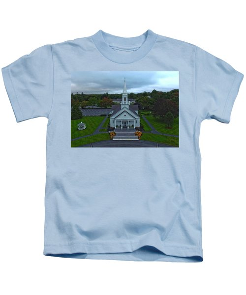 Saint Mary's Church From Above Kids T-Shirt