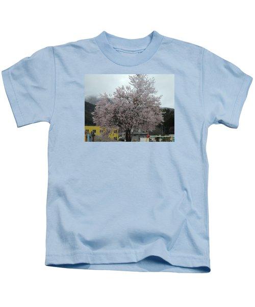 Sakura, Japan's Ephemeral Also Beautiful Flowers Kids T-Shirt