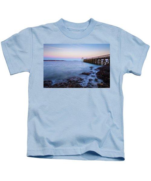 Salem Willows Sunset Kids T-Shirt