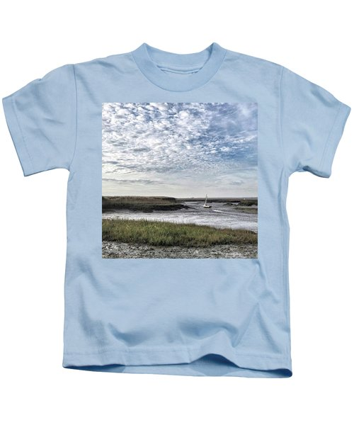 Salt Marsh And Creek, Brancaster Kids T-Shirt
