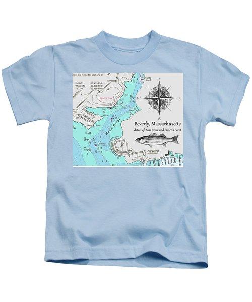 Salter's Point Map Kids T-Shirt