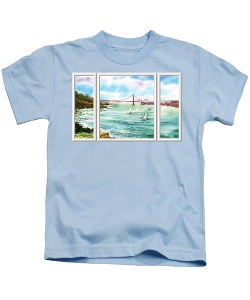 San Francisco Bay View Window Kids T-Shirt