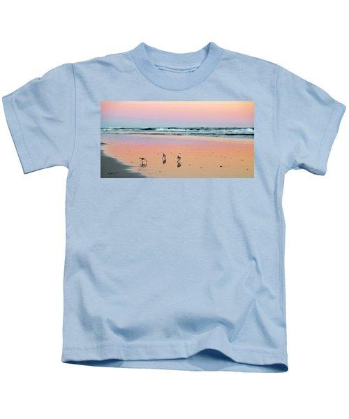 Sanderling Sunset Topsail Island Kids T-Shirt