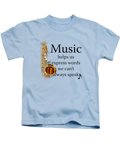 Saxophones Express Words Kids T-Shirt