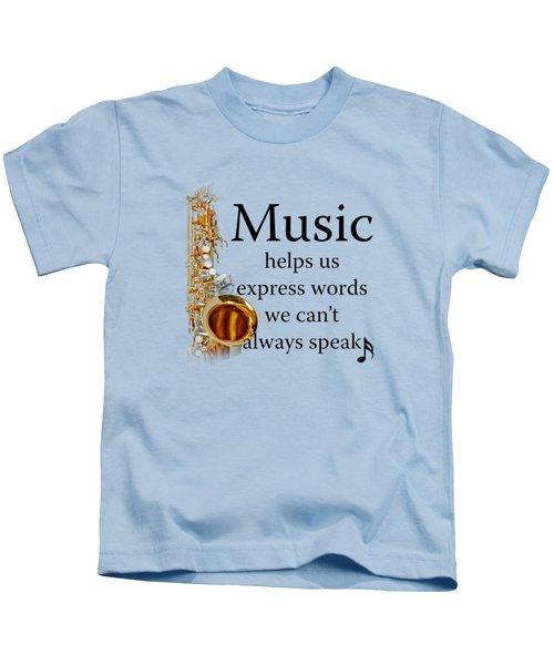 Saxophones Express Words Kids T-Shirt