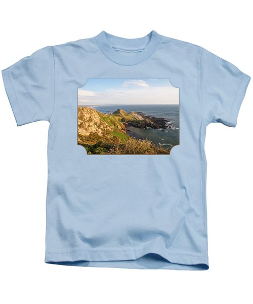 Scenic Coastline At Corbiere Kids T-Shirt