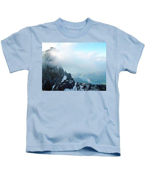 Schafberg Cliff Face Kids T-Shirt