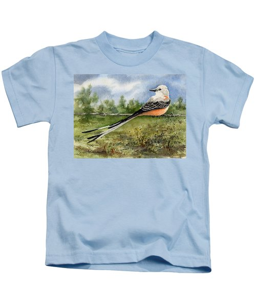 Scissor-tail Flycatcher Kids T-Shirt