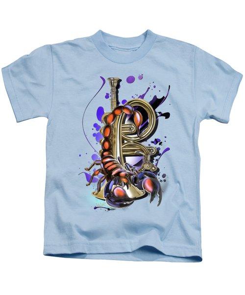 Scorpio Kids T-Shirt by Melanie D