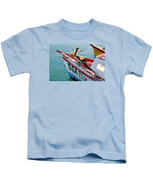 Sea Fly 1, Aruba Kids T-Shirt