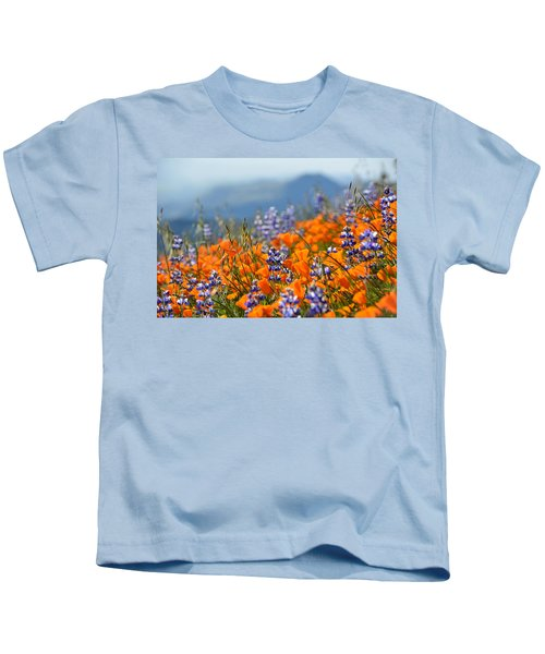 Sea Of California Wildflowers Kids T-Shirt