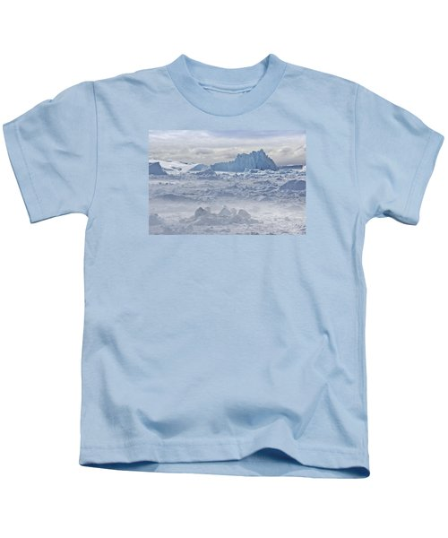 Sea Of Glacial Ice Kids T-Shirt