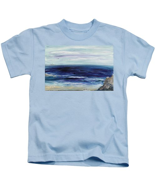 Seascape With White Cats Kids T-Shirt