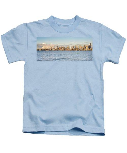 Seattle Skyline 2 Kids T-Shirt