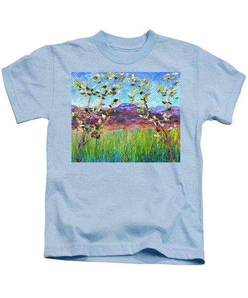 Sentries Diptych Kids T-Shirt