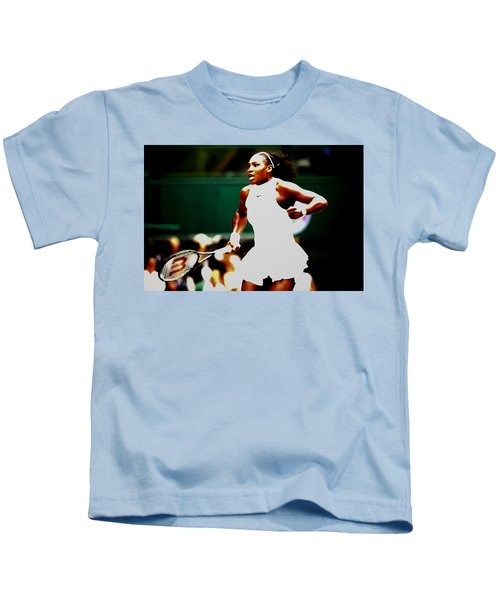 Serena Williams Making History Kids T-Shirt by Brian Reaves