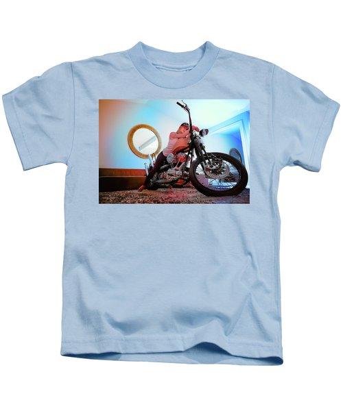 She Rides- Kids T-Shirt