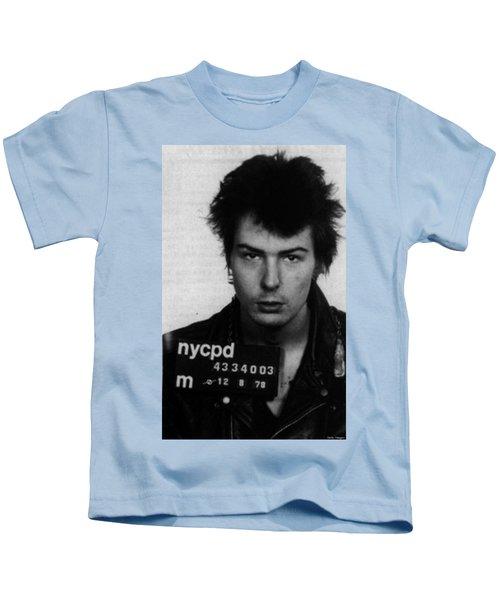 Sid Vicious Mug Shot Vertical Kids T-Shirt