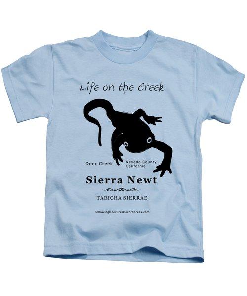 Sierra Newt - Black Kids T-Shirt by Lisa Redfern