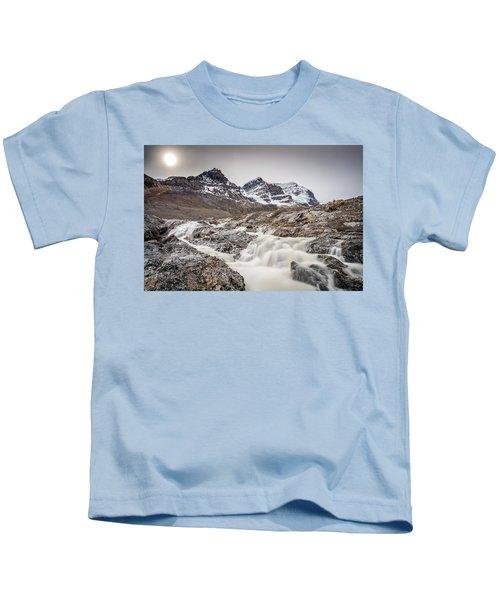 Silky Melt Water Of Athabasca Glacier Kids T-Shirt