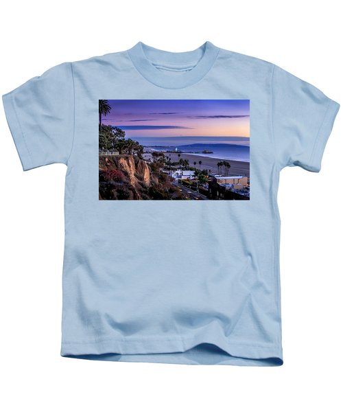 Sitting On The Fence - Santa Monica Pier Kids T-Shirt