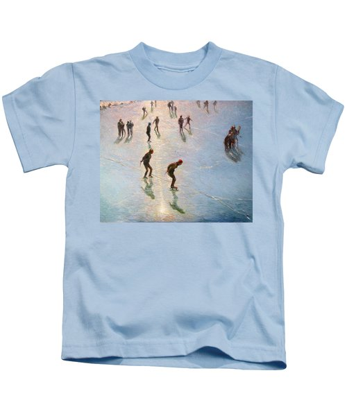 Skating In The Sunset  Kids T-Shirt