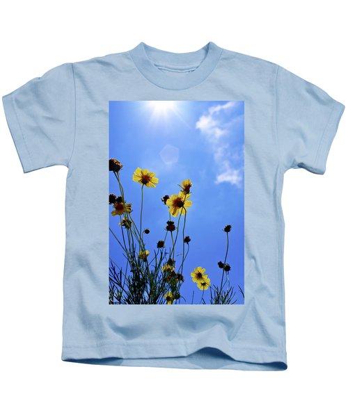 Sky Flowers Kids T-Shirt