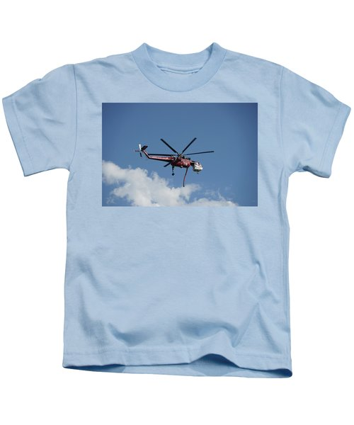 Skycrane Works The Red Canyon Fire Kids T-Shirt