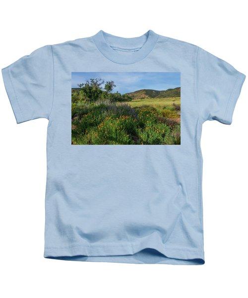 Sleeping Poppies, Mission Trails Kids T-Shirt