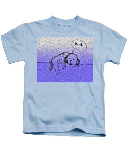 Sleepy Puppy Dreams Kids T-Shirt