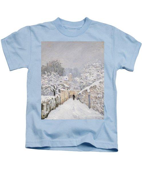 Snow At Louveciennes Kids T-Shirt