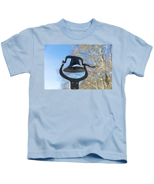 Snow Covered Bell Kids T-Shirt