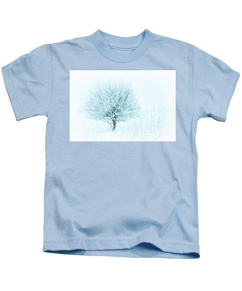 Snow Field Tree Kids T-Shirt