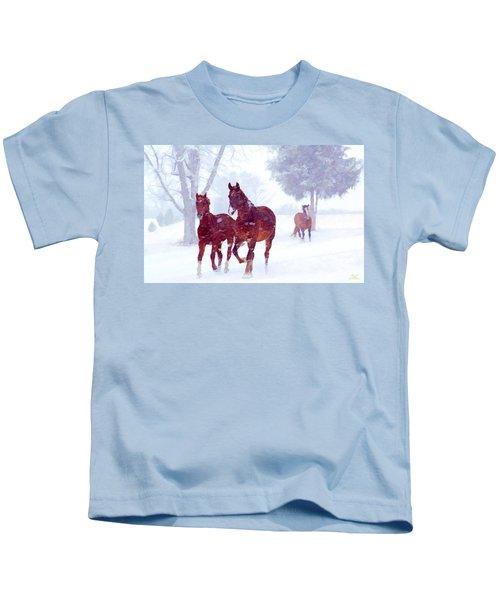 Snow Run Kids T-Shirt