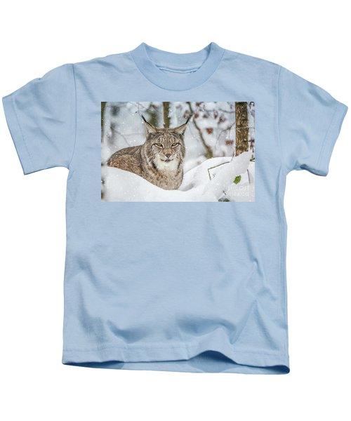 Snowy Lynx Kids T-Shirt