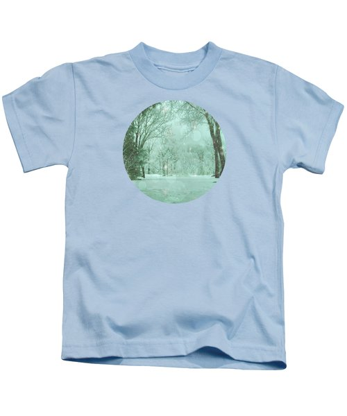 Snowy Winter Night Kids T-Shirt