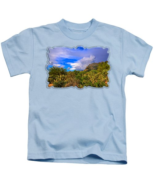Sonoran Afternoon H11 Kids T-Shirt by Mark Myhaver