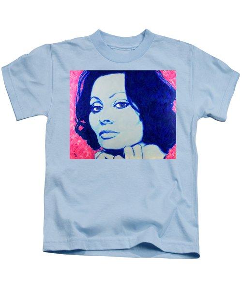 Sophia Loren Pop Art Portrait Kids T-Shirt