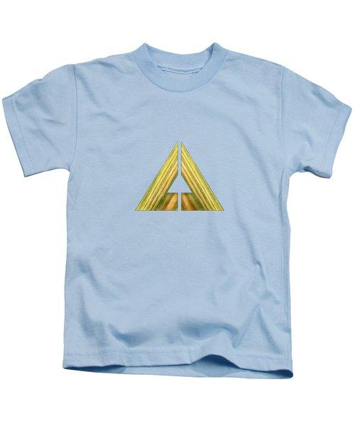 Split Triangle Green Kids T-Shirt