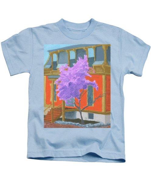 Spring In Pink And Orange Kids T-Shirt