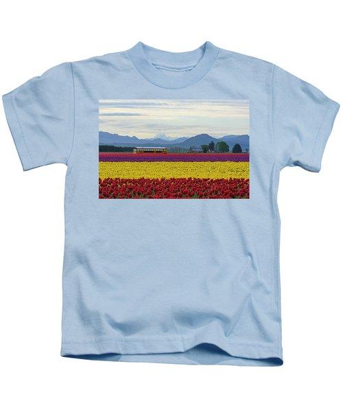 Spring In Skagit Valley Kids T-Shirt