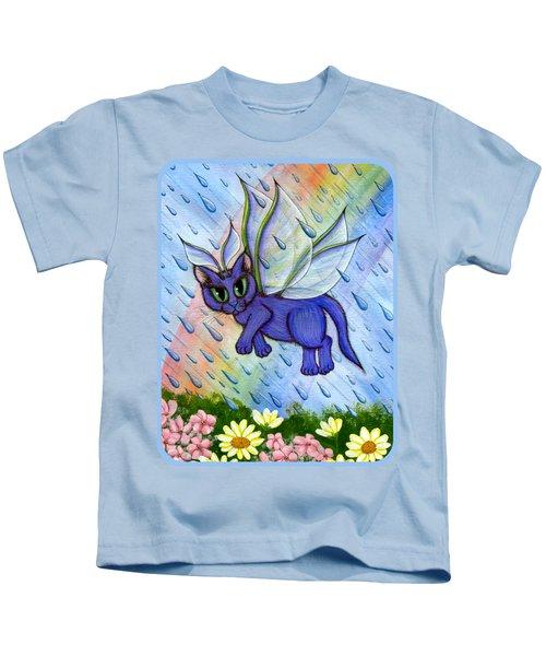 Spring Showers Fairy Cat Kids T-Shirt