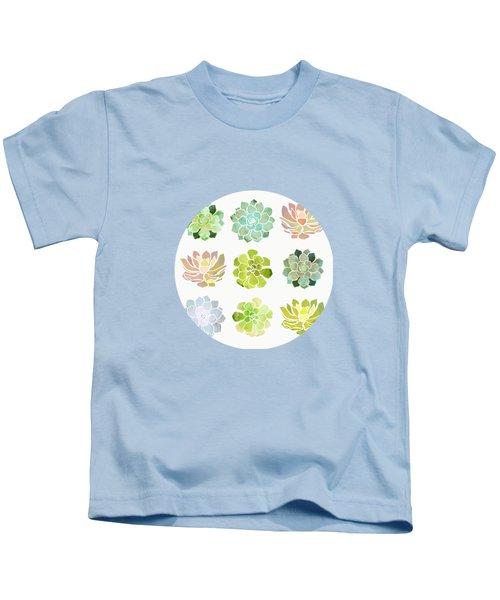 Spring Succulents Kids T-Shirt