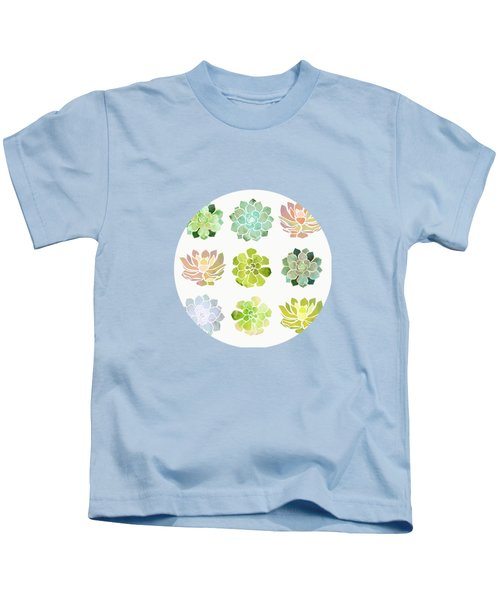 Spring Succulents Kids T-Shirt