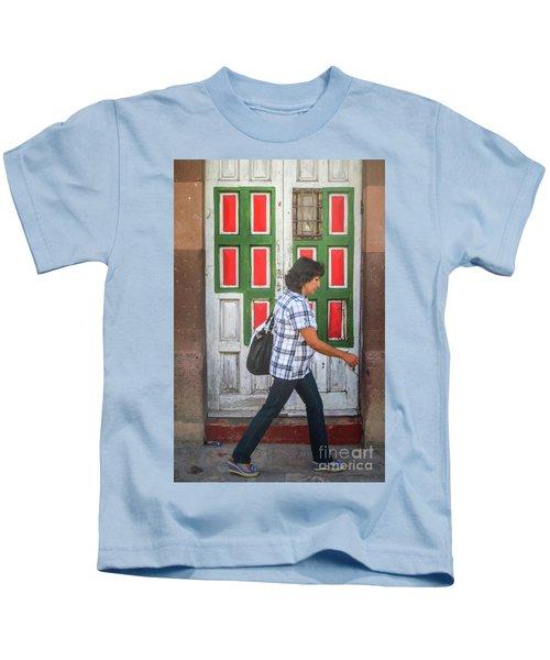 Square Design Kids T-Shirt