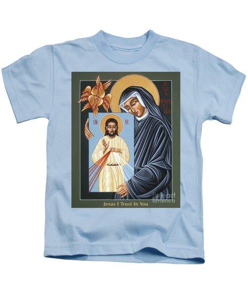 St Faustina Kowalska Apostle Of Divine Mercy 094 Kids T-Shirt