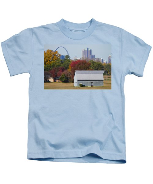 St Louis Skyline From Illinois Kids T-Shirt