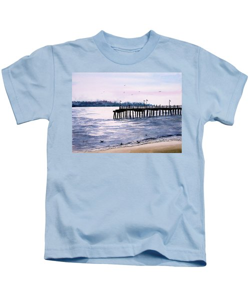 St. Simons Island Fishing Pier Kids T-Shirt