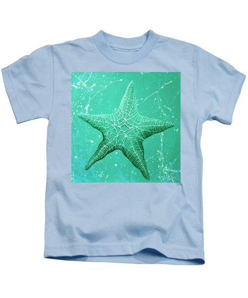 Starfish In Teal Kids T-Shirt