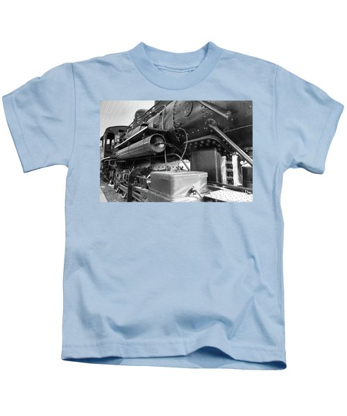 Steam Locomotive Side View Kids T-Shirt